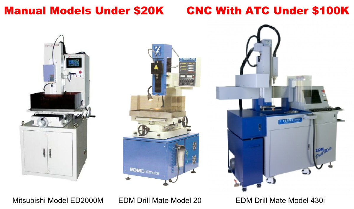 Save BIG on EDM Hole Poppers – Manual or CNC