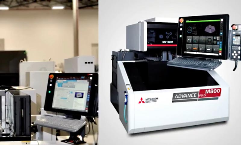 Mitsubishi's New M800 Control on its Wire EDM Machines Making Big Impact on Market