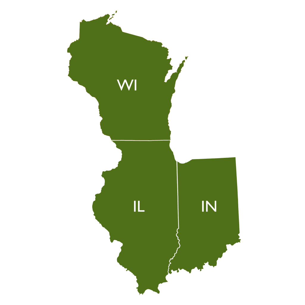 Illinois-Indiana-Wisconsin Map