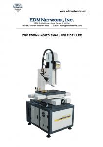 EDMMAX 430ZD ZNC EDM Drill Brochure