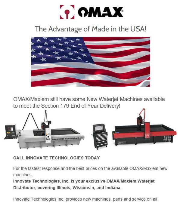 OMAX Available Machines